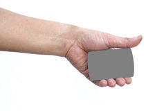 Hand hold the credit card Stock Photos