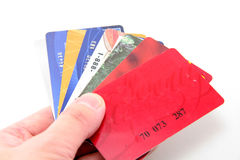 Hand Hold Credit Cards Royalty Free Stock Image