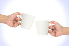 Hand hold cup Stock Photo