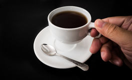 Hand hold cup of coffee Royalty Free Stock Image