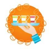 Hand Hold Cup Tea Coffee Break Morning Beverage. Flat Vector Illustration Stock Image