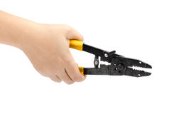Hand hold cutting pliers Stock Photo