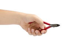 Hand hold cutting pliers Stock Images