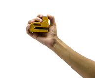 Hand hold disc lock Royalty Free Stock Images