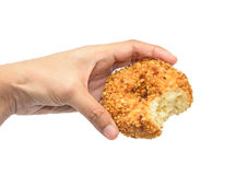 Hand hold donuts Stock Image