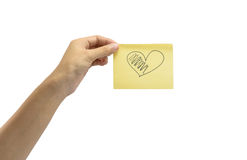 Hand hold drawing heart Stock Photo