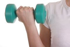 Hand hold the dumbbell Royalty Free Stock Photo