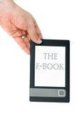 Hand Hold E-book Reader Royalty Free Stock Photos