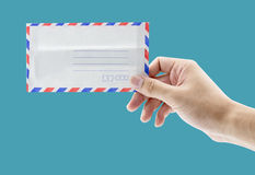 Hand hold a envelope Royalty Free Stock Photography
