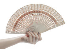 Hand hold fan Stock Image
