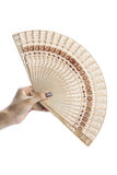 Hand hold fan Stock Photo