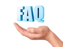 Hand hold FAQ. Frequently Asked Question concept Royalty Free Stock Image