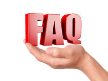 Hand hold FAQ. Frequently Asked Question concept Royalty Free Stock Photos