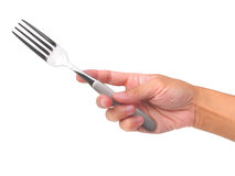 Hand hold fork Stock Image