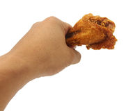 Hand hold fried chicken Royalty Free Stock Photo