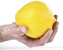 Hand hold grapefruit Royalty Free Stock Photos