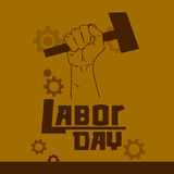 Hand Hold Hammer Labor Day May Holiday Royalty Free Stock Photo
