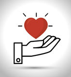Hand hold  heart design Royalty Free Stock Images