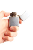 Hand Hold Holding Lighter Stock Images