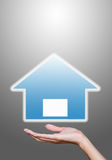 Hand hold house icons Royalty Free Stock Photography