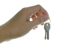 Hand hold house keys Stock Image