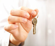 Hand hold key Stock Images