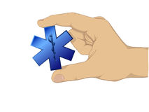Hand hold medic symbol Stock Photography
