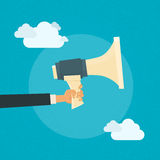 Hand Hold Megaphone Business Concept Cloud Royalty Free Stock Images