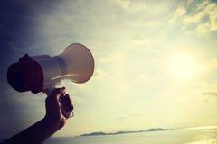 Hand hold megaphone Royalty Free Stock Photos