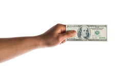 Hand hold money in american dollar Stock Photography