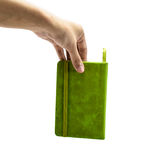 Hand hold a note book Royalty Free Stock Photo