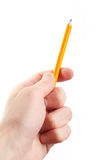 Hand hold a pencil Stock Photo
