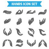 Hand hold protect icons Royalty Free Stock Image