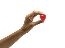 Hand hold red heart Stock Photo