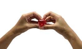 Hand hold red heart Royalty Free Stock Photo