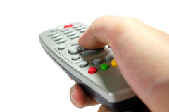 Hand hold Remote Control Royalty Free Stock Photography