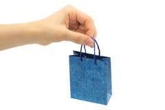 Hand hold shopping bag Stock Photos