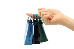 Hand hold shopping bag Royalty Free Stock Photography