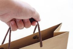 Hand hold shopping bag Royalty Free Stock Photos
