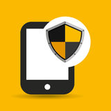 Hand hold smartphone protection shield Royalty Free Stock Photography