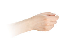 Hand hold something Stock Photography