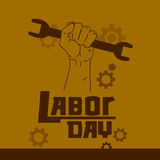 Hand Hold Spanner Wrench International Labor Day May Stock Images