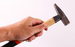 Hand hold hammer Royalty Free Stock Photos