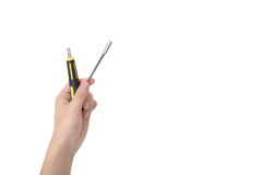 Hand hold variable screwdriver Stock Photography