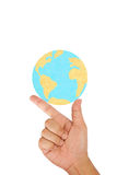 Hand hold the world Royalty Free Stock Photos
