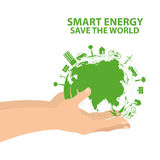 Hand hold world energy Royalty Free Stock Photography