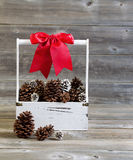 Hand Holder filled with Holiday Objects Royalty Free Stock Photography