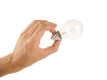 Free Hand Holding A Light Bulb Stock Photography - 15717902