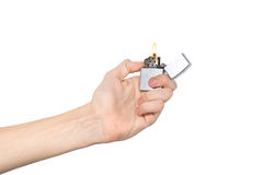 Free Hand Holding A Lighter Royalty Free Stock Images - 7524539