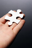 Hand Holding A Puzzle Piece Stock Images